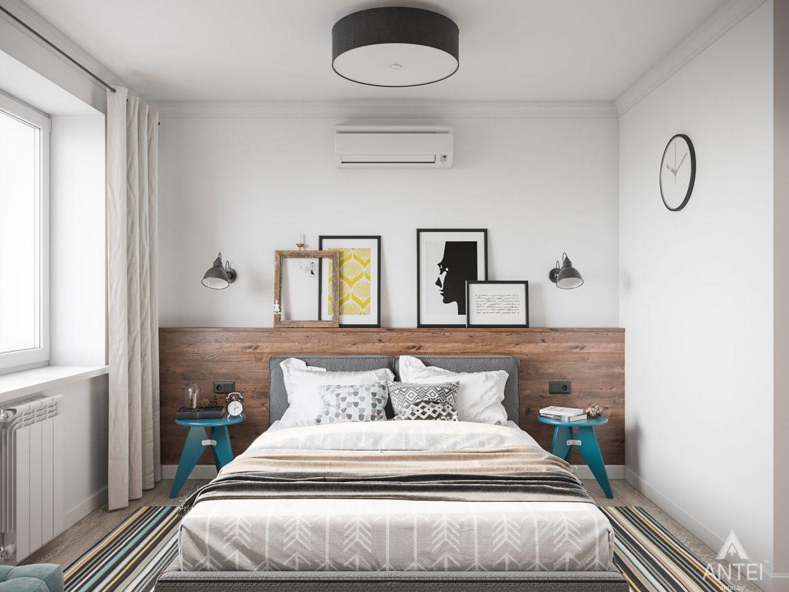 Дизайн интерьера трехкомнатная квартира в Гомеле, ул. Свиридова - спальня фото №1