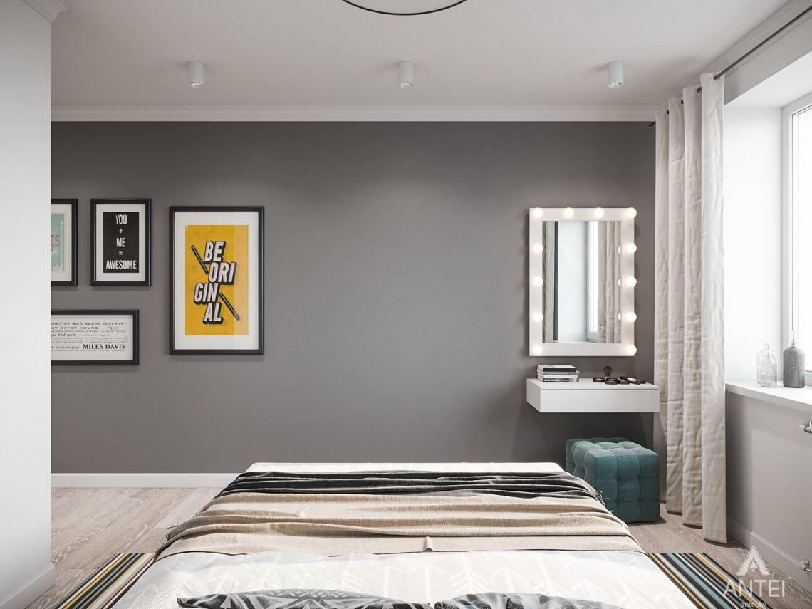 Дизайн интерьера трехкомнатная квартира в Гомеле, ул. Свиридова - спальня фото №2