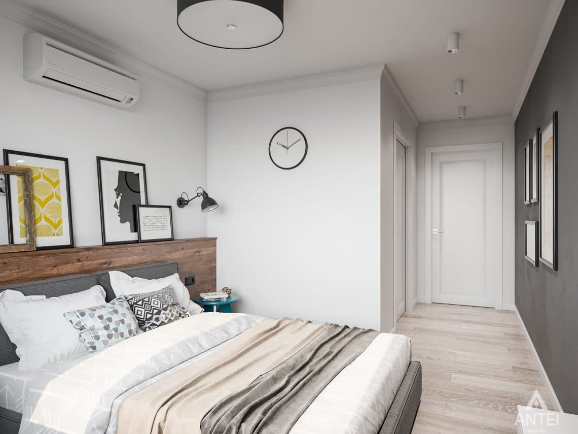 Дизайн интерьера трехкомнатная квартира в Гомеле, ул. Свиридова - спальня фото №3