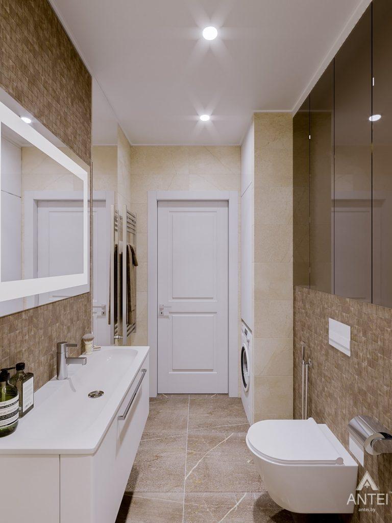 Дизайн интерьера двухкомнатной квартиры в Гомеле, ул. Карла Маркса - ванная фото №2