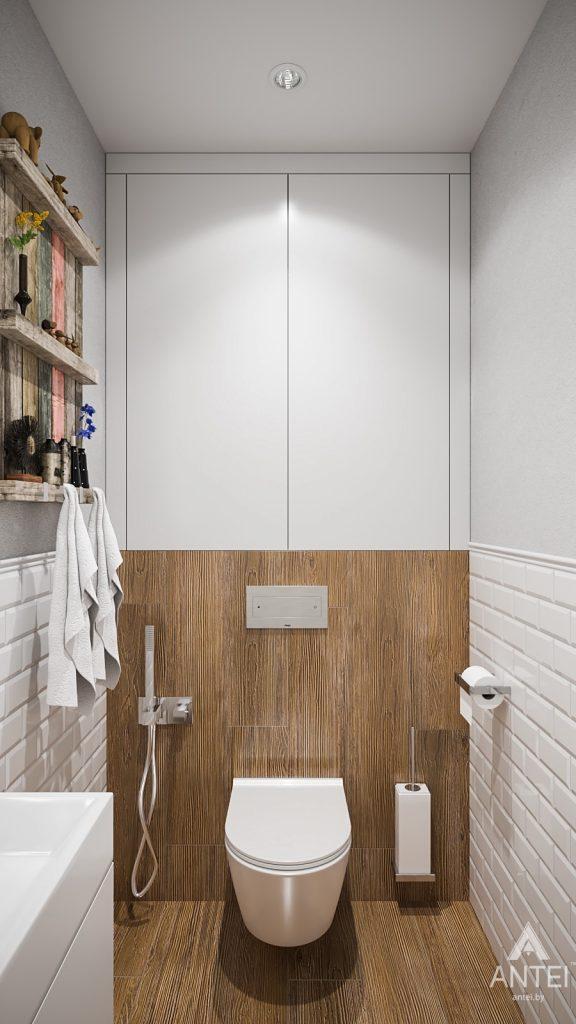 Дизайн интерьера трехкомнатная квартира в Гомеле, ул. Свиридова - ванная фото №3