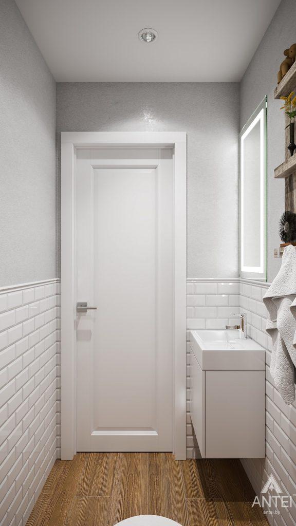 Дизайн интерьера трехкомнатная квартира в Гомеле, ул. Свиридова - ванная фото №4