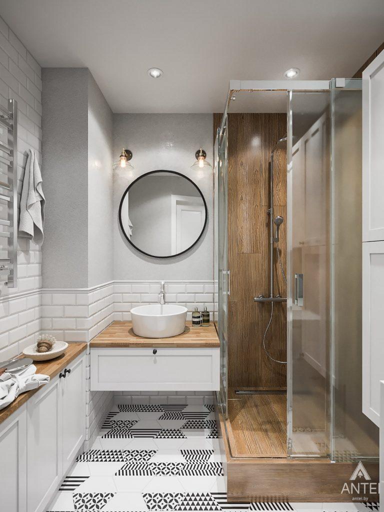 Дизайн интерьера трехкомнатная квартира в Гомеле, ул. Свиридова - ванная фото №1