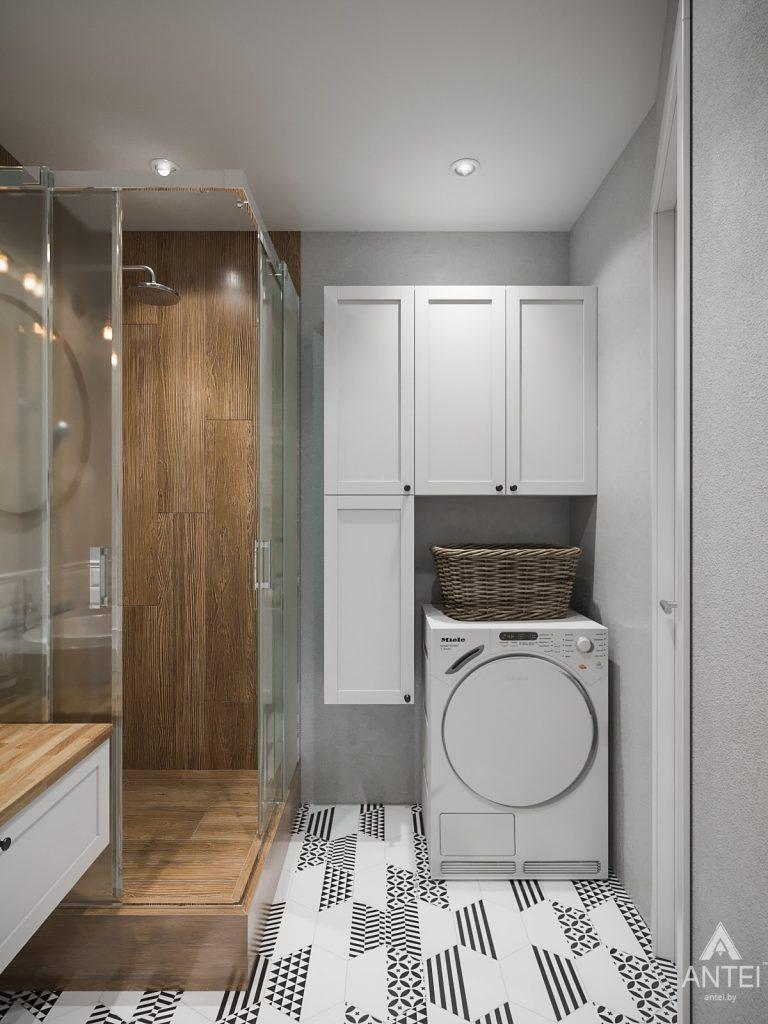 Дизайн интерьера трехкомнатная квартира в Гомеле, ул. Свиридова - ванная фото №2