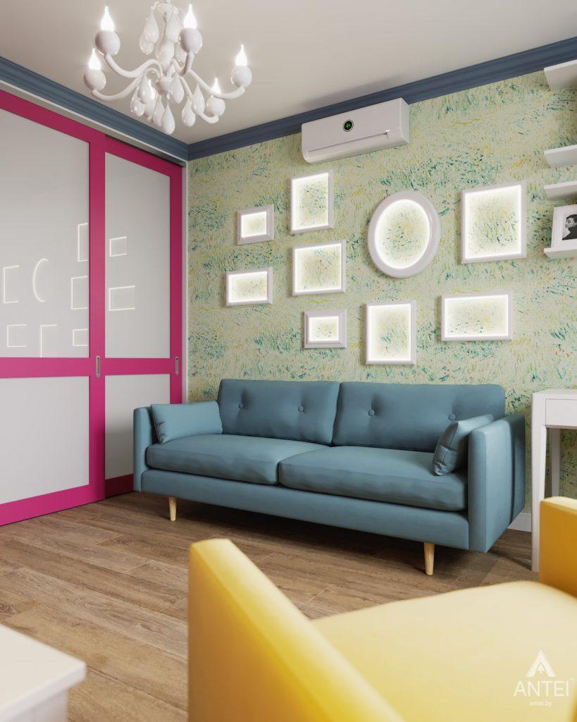 Дизайн интерьера двухкомнатной квартиры в Гомеле, ул. Денисенко - гостиная фото №3