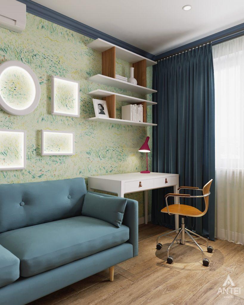 Дизайн интерьера двухкомнатной квартиры в Гомеле, ул. Денисенко - гостиная фото №4