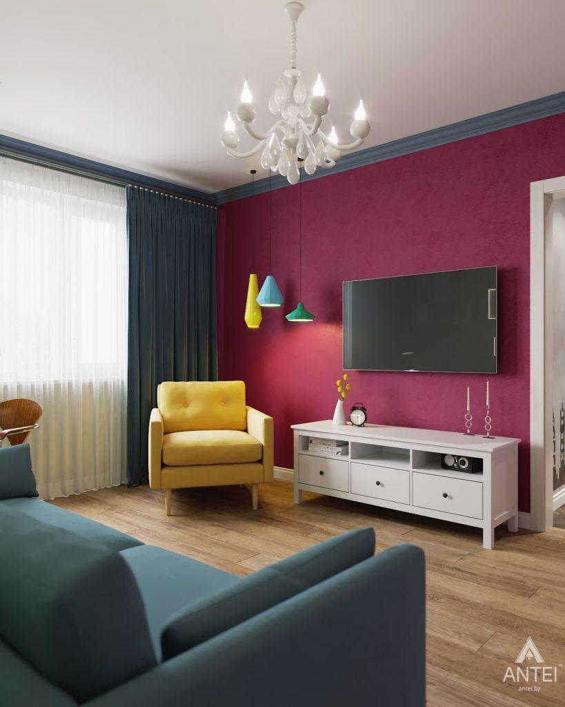 Дизайн интерьера двухкомнатной квартиры в Гомеле, ул. Денисенко - гостиная фото №5