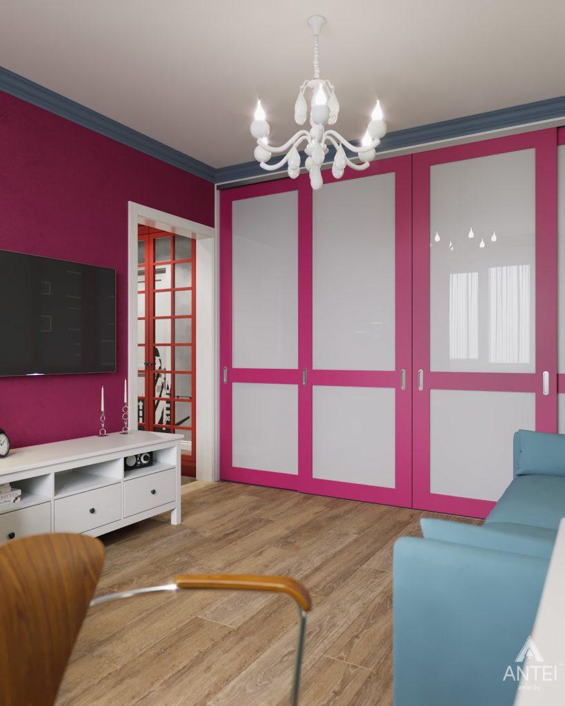 Дизайн интерьера двухкомнатной квартиры в Гомеле, ул. Денисенко - гостиная фото №6