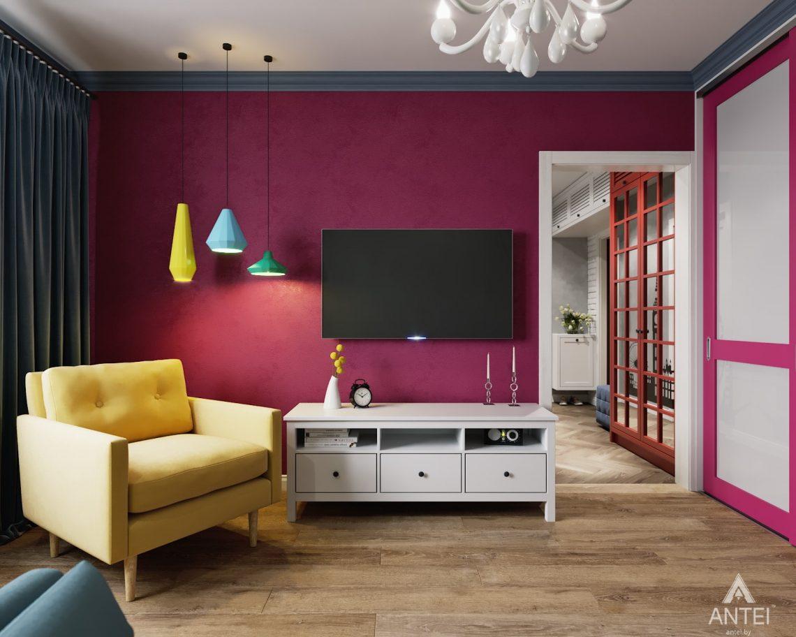 Дизайн интерьера двухкомнатной квартиры в Гомеле, ул. Денисенко - гостиная фото №1