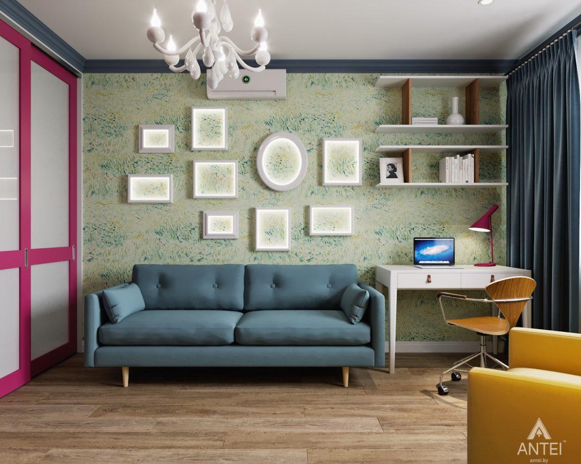 Дизайн интерьера двухкомнатной квартиры в Гомеле, ул. Денисенко - гостиная фото №2