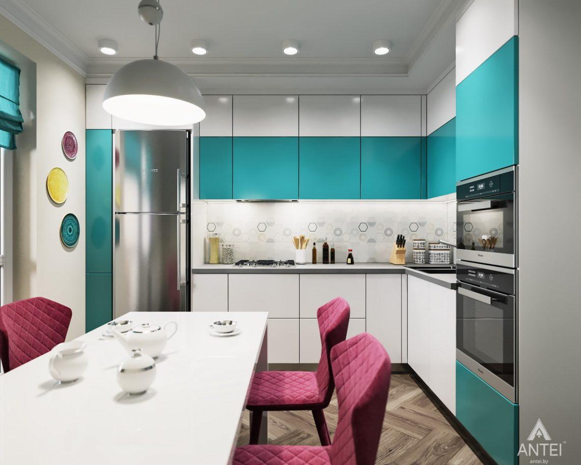 Дизайн интерьера двухкомнатной квартиры в Гомеле, ул. Денисенко - кухня фото №1