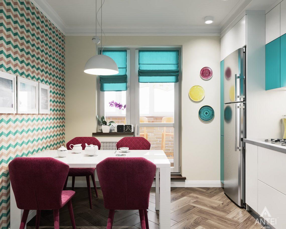 Дизайн интерьера двухкомнатной квартиры в Гомеле, ул. Денисенко - кухня фото №3