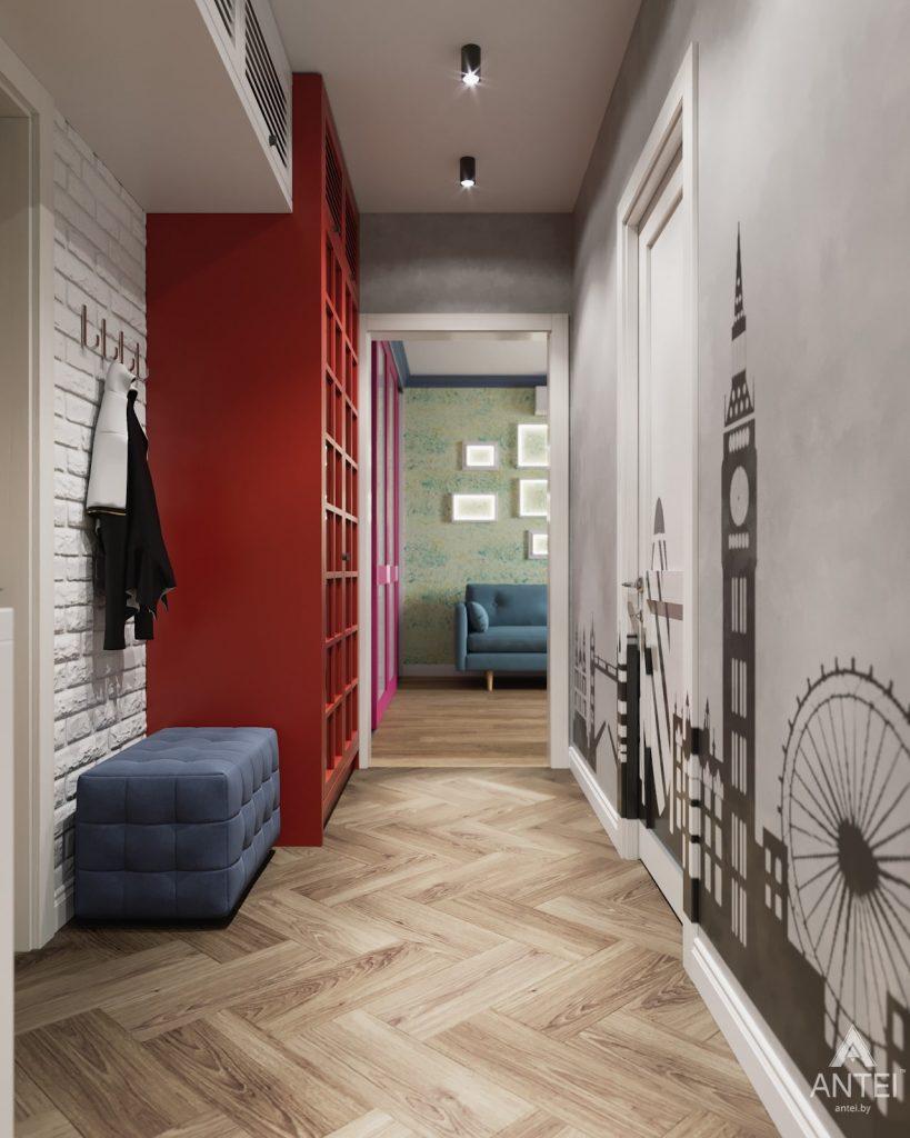Дизайн интерьера двухкомнатной квартиры в Гомеле, ул. Денисенко - прихожая фото №1