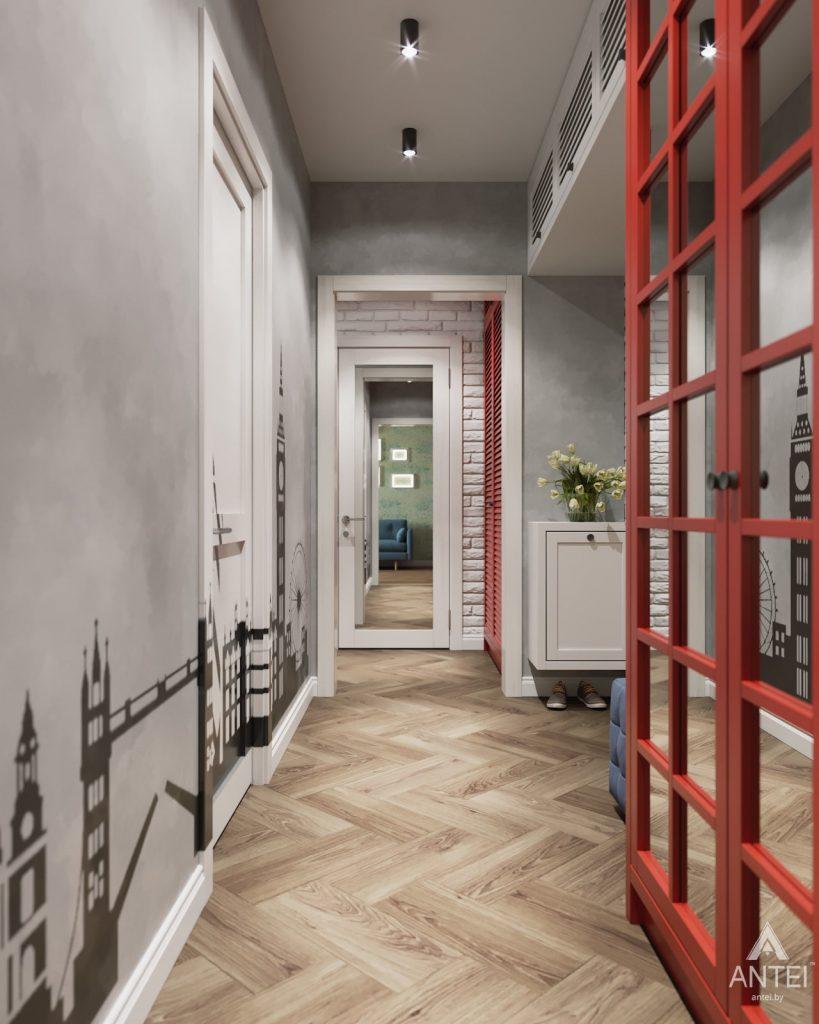 Дизайн интерьера двухкомнатной квартиры в Гомеле, ул. Денисенко - прихожая фото №2