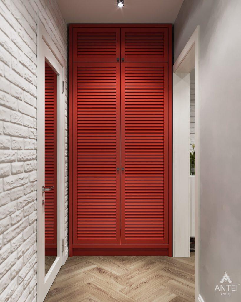 Дизайн интерьера двухкомнатной квартиры в Гомеле, ул. Денисенко - прихожая фото №3