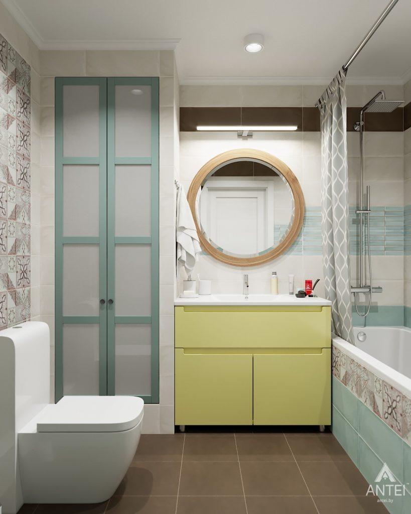 Дизайн интерьера двухкомнатной квартиры в Гомеле, ул. Денисенко - ванная фото №1