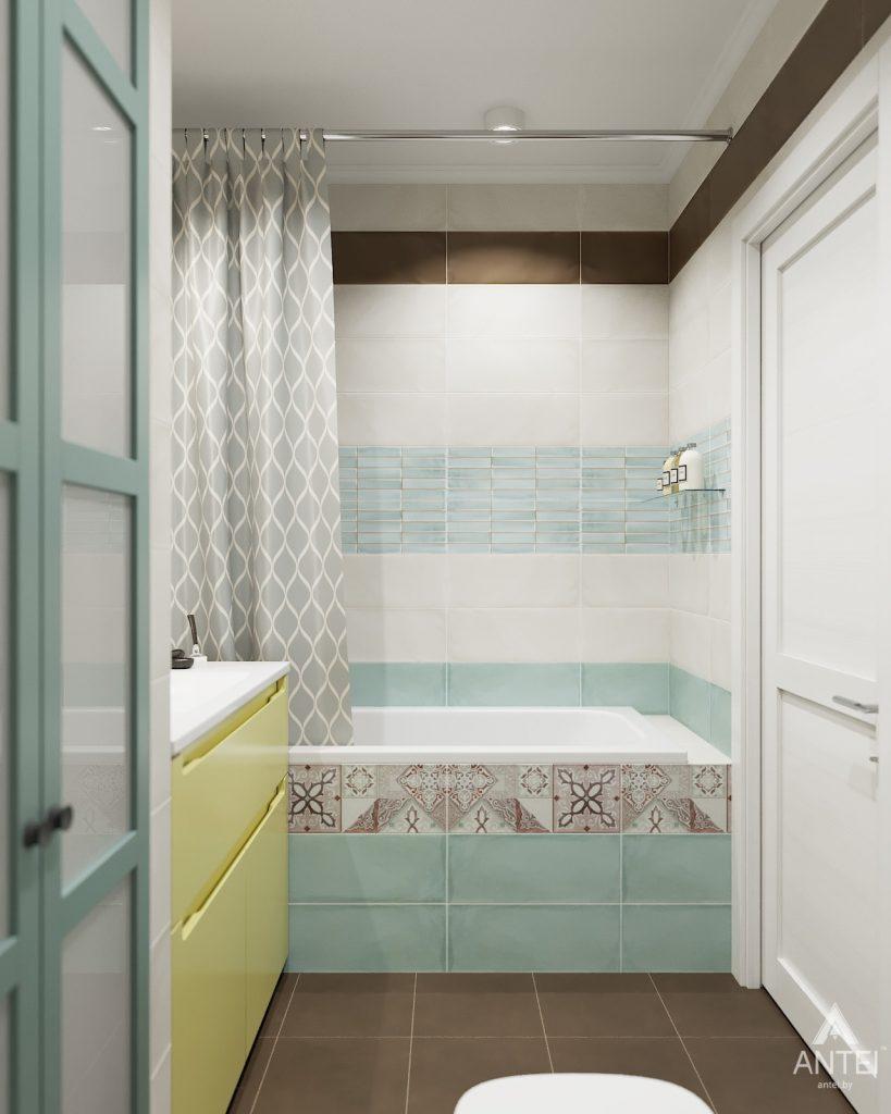 Дизайн интерьера двухкомнатной квартиры в Гомеле, ул. Денисенко - ванная фото №2