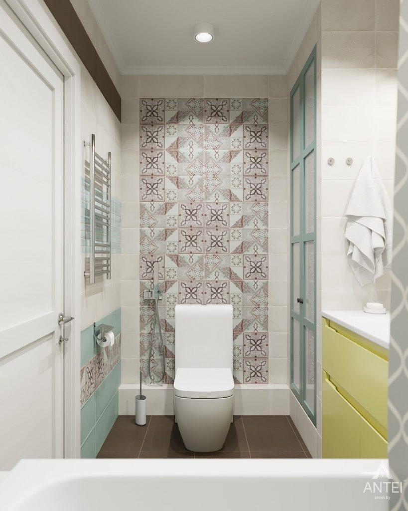 Дизайн интерьера двухкомнатной квартиры в Гомеле, ул. Денисенко - ванная фото №3