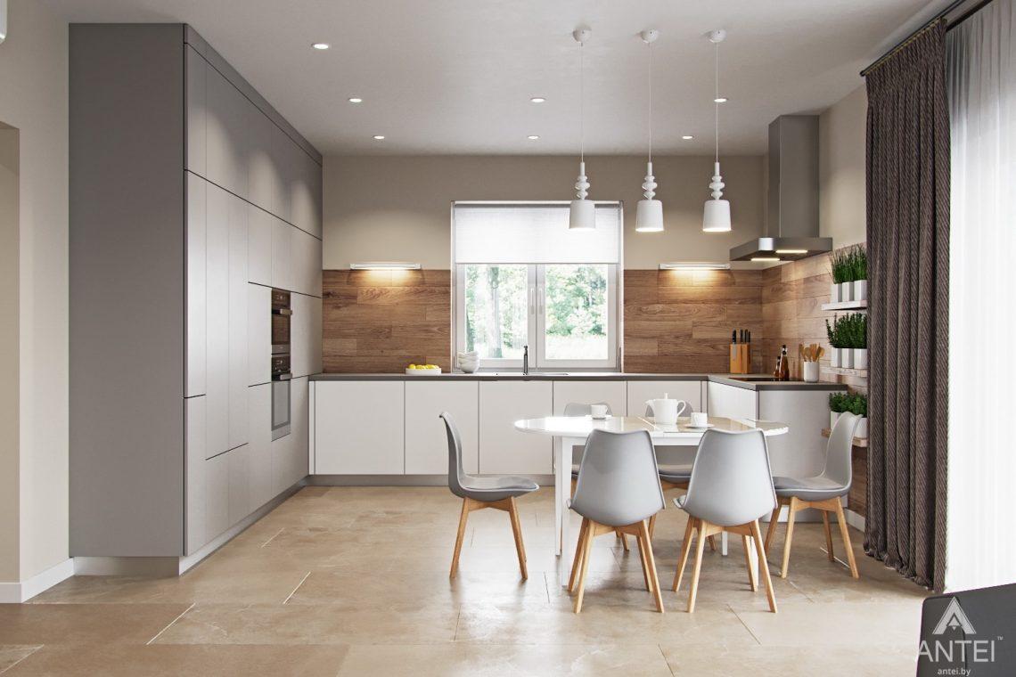 Дизайн интерьера загородного дома в г. Речица - кухни-гостиной фото №1