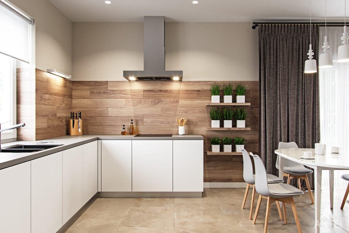 Дизайн интерьера загородного дома в г. Речица - кухни-гостиной фото №2