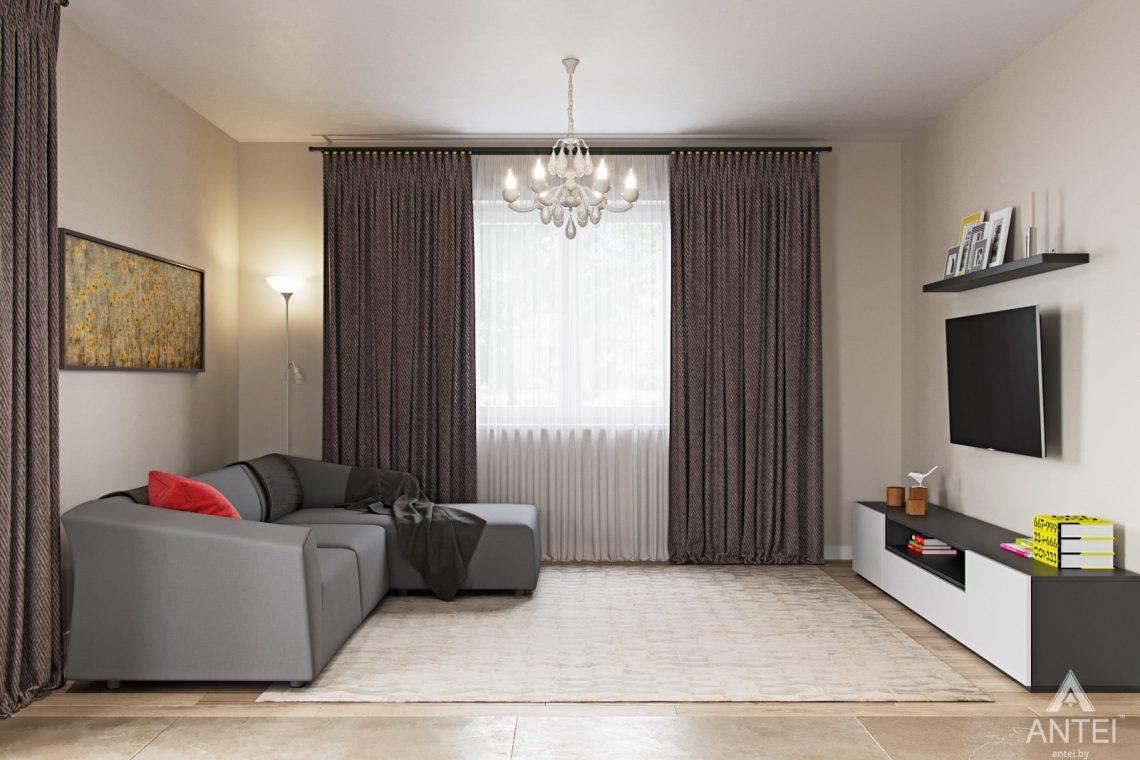 Дизайн интерьера загородного дома в г. Речица - кухни-гостиной фото №4