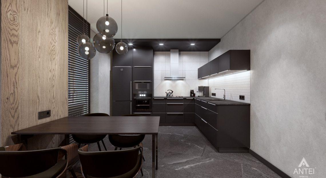 Дизайн интерьера трехкомнатная квартира в Жлобине - гостиная-кухня фото №5
