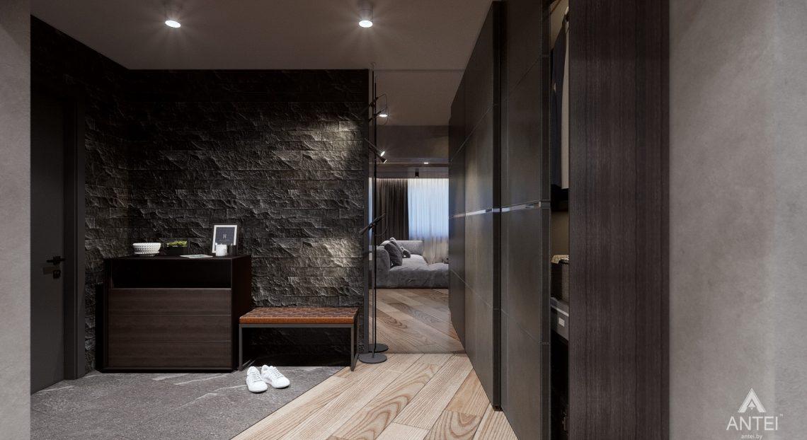 Дизайн интерьера трехкомнатная квартира в Жлобине - прихожая фото №1