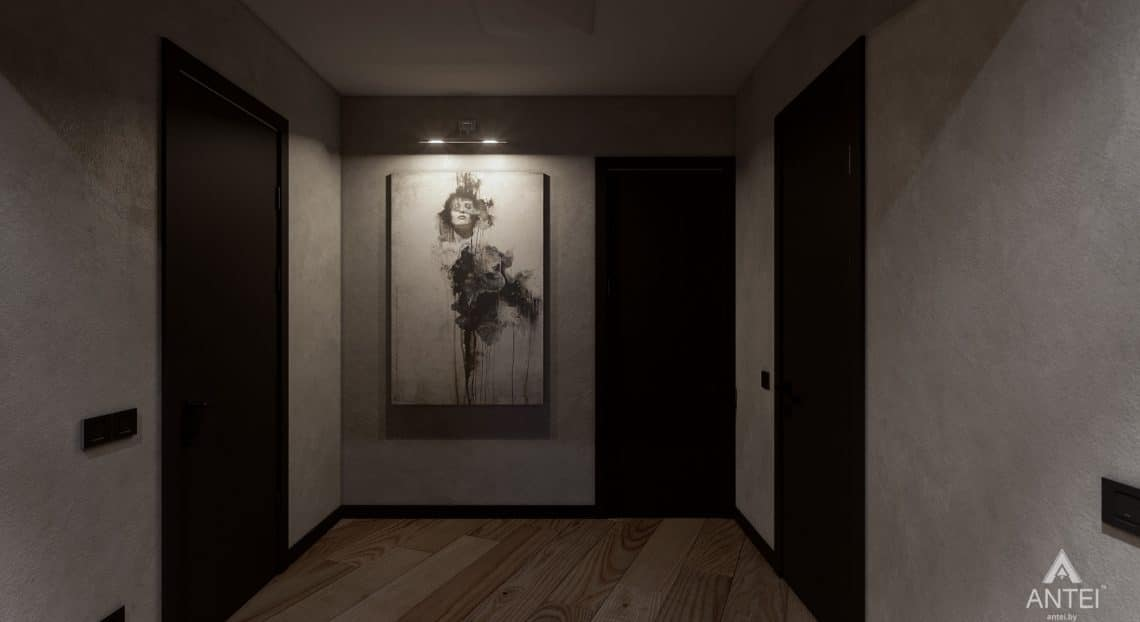 Дизайн интерьера трехкомнатная квартира в Жлобине - прихожая фото №2