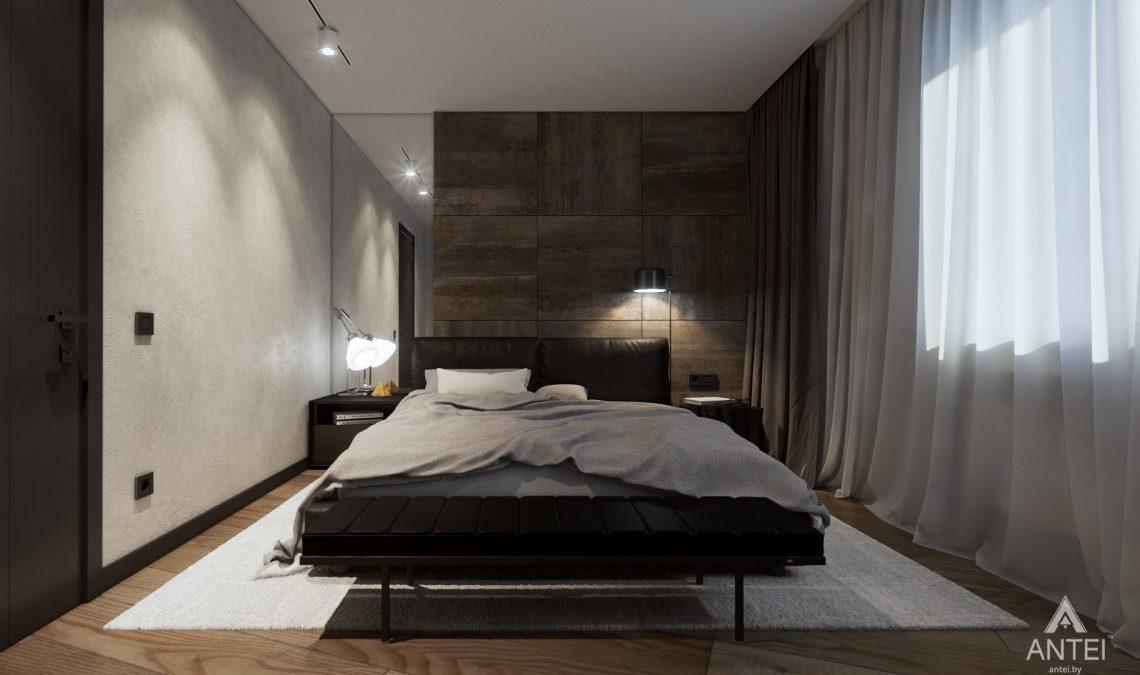 Дизайн интерьера трехкомнатная квартира в Жлобине - спальня фото №1