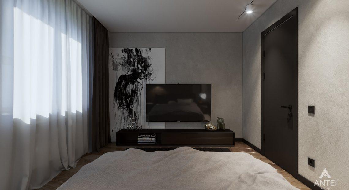 Дизайн интерьера трехкомнатная квартира в Жлобине - спальня фото №2