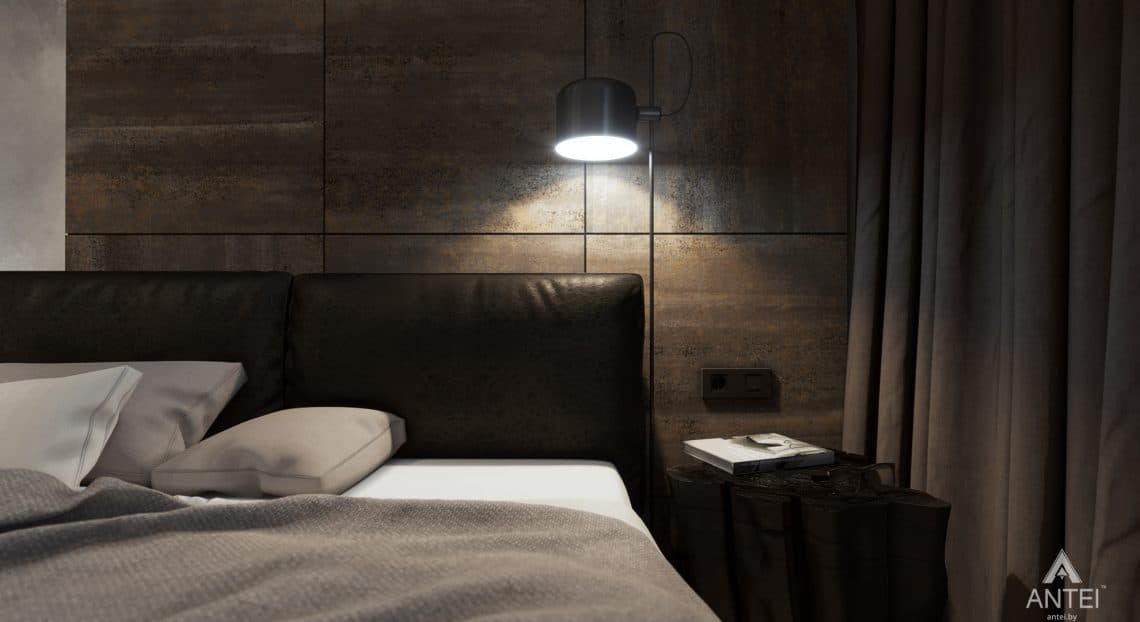 Дизайн интерьера трехкомнатная квартира в Жлобине - спальня фото №4