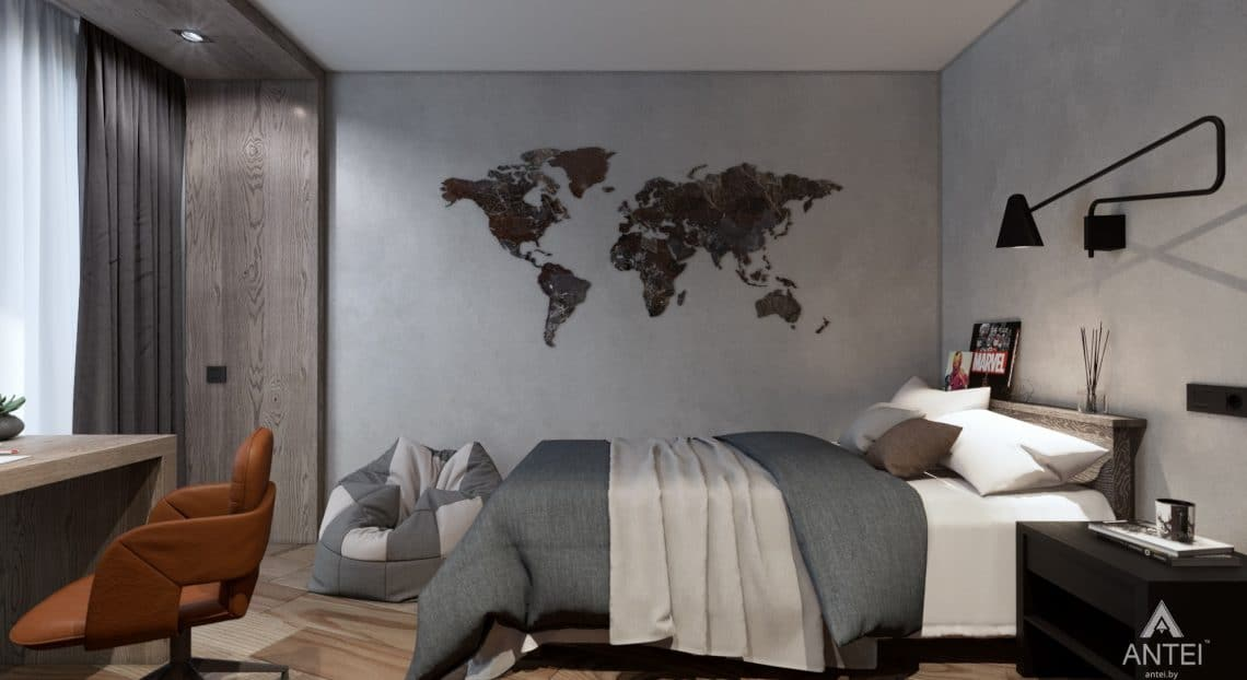 Дизайн интерьера трехкомнатная квартира в Жлобине - детская комната фото №1