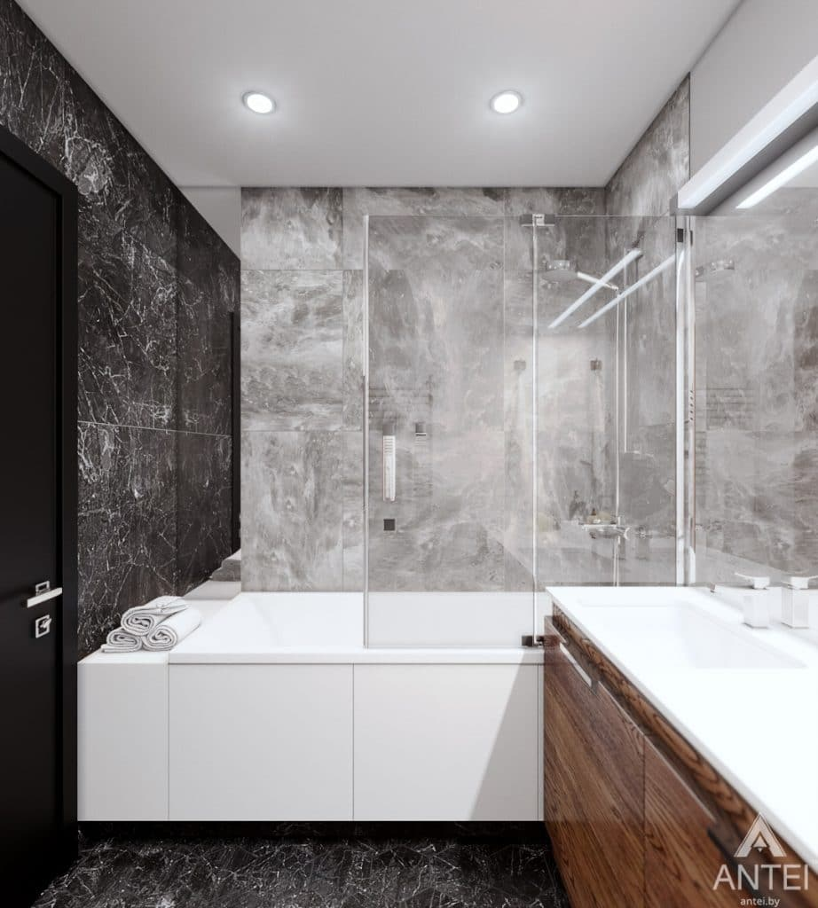 Дизайн интерьера трехкомнатная квартира в Жлобине - ванная фото №1