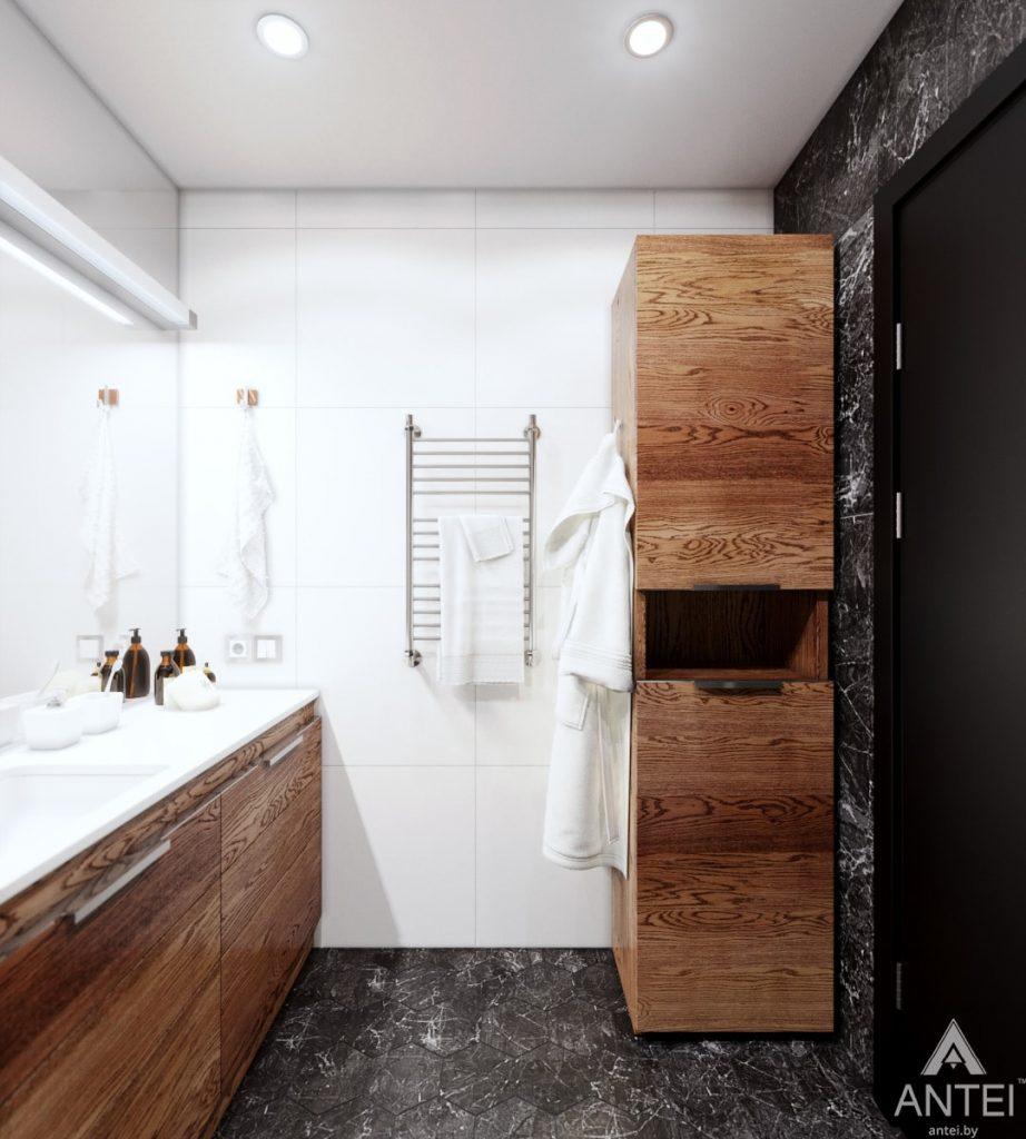 Дизайн интерьера трехкомнатная квартира в Жлобине - ванная фото №3