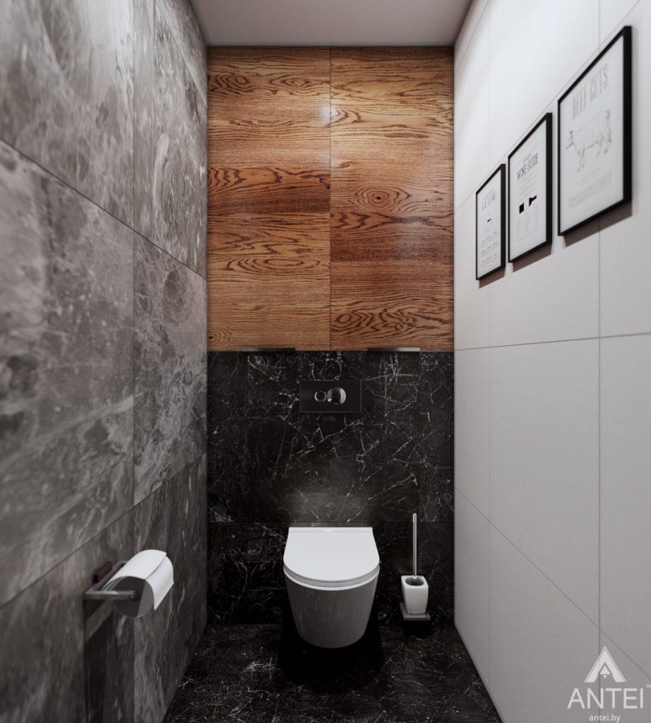 Дизайн интерьера трехкомнатная квартира в Жлобине - туалет фото №1