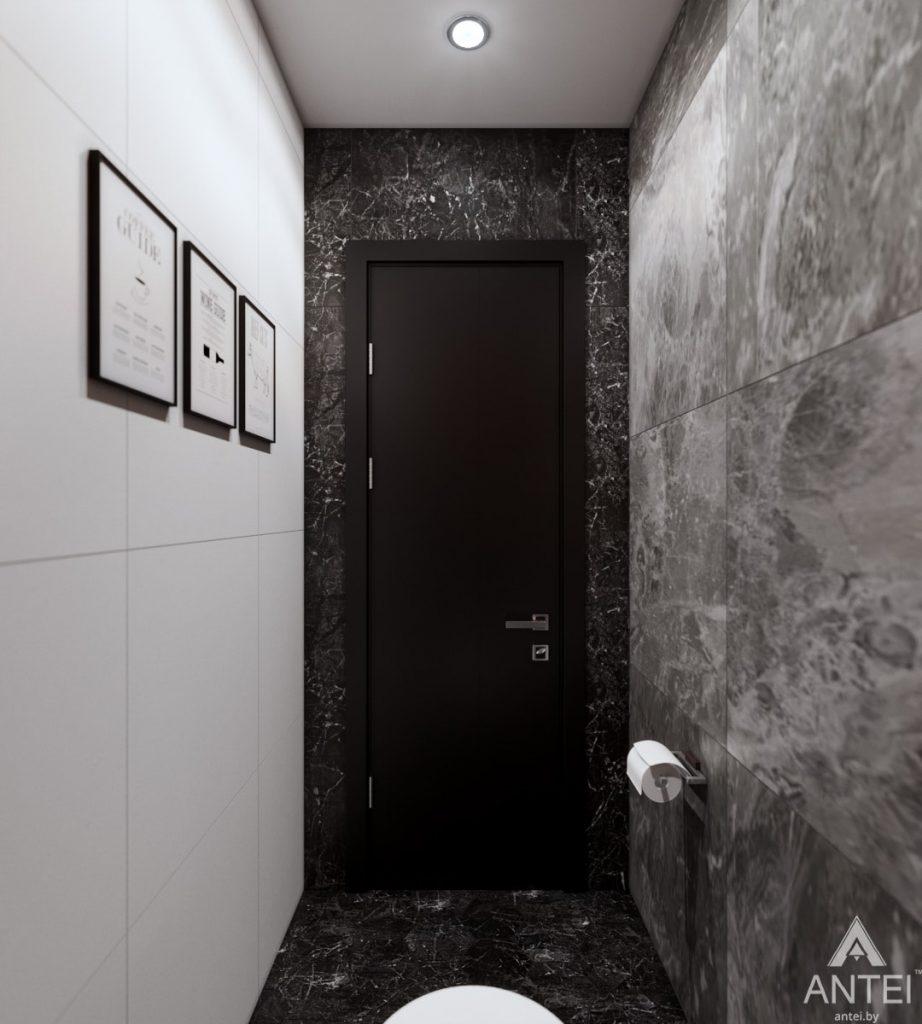 Дизайн интерьера трехкомнатная квартира в Жлобине - туалет фото №2