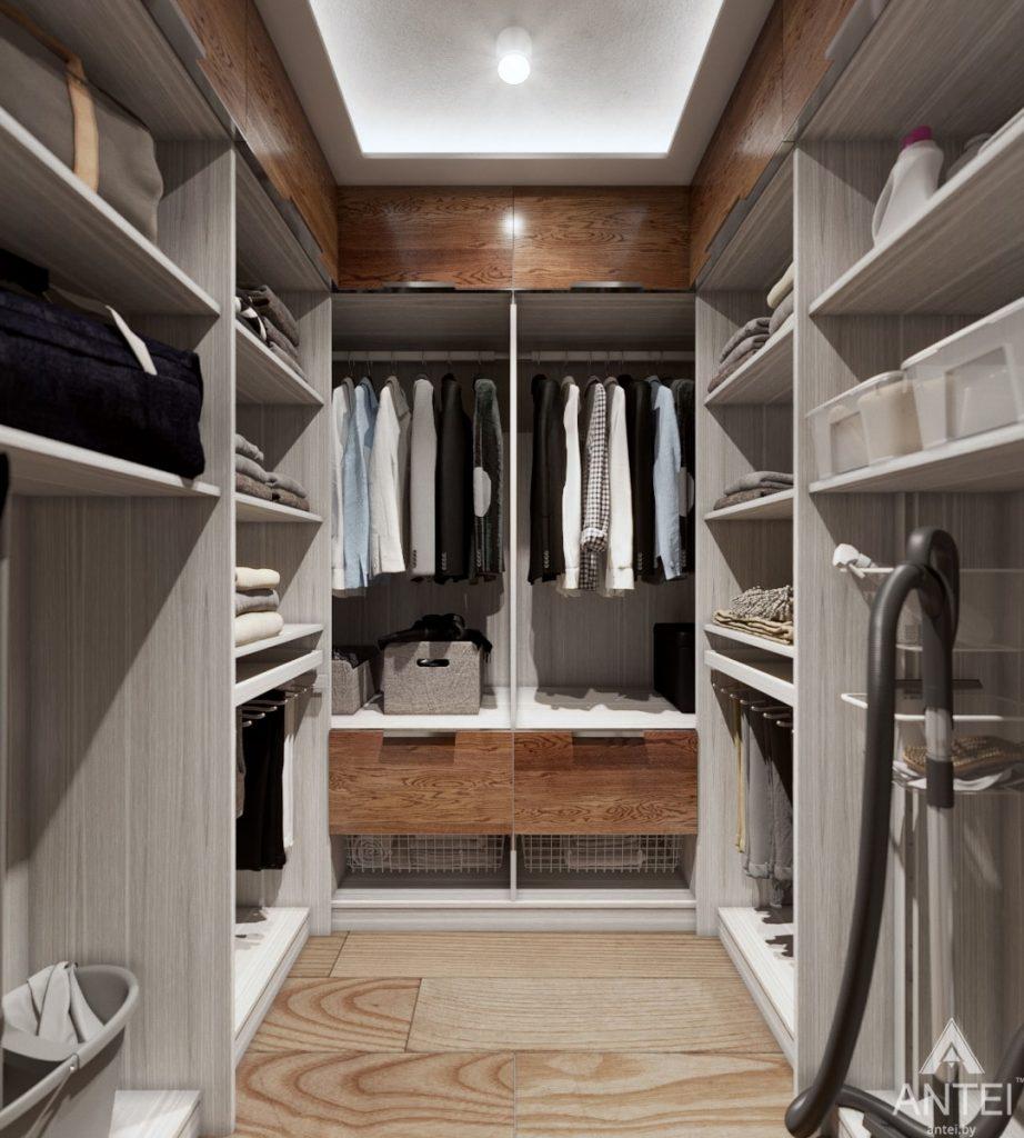Дизайн интерьера трехкомнатная квартира в Жлобине - гардеробная фото №1
