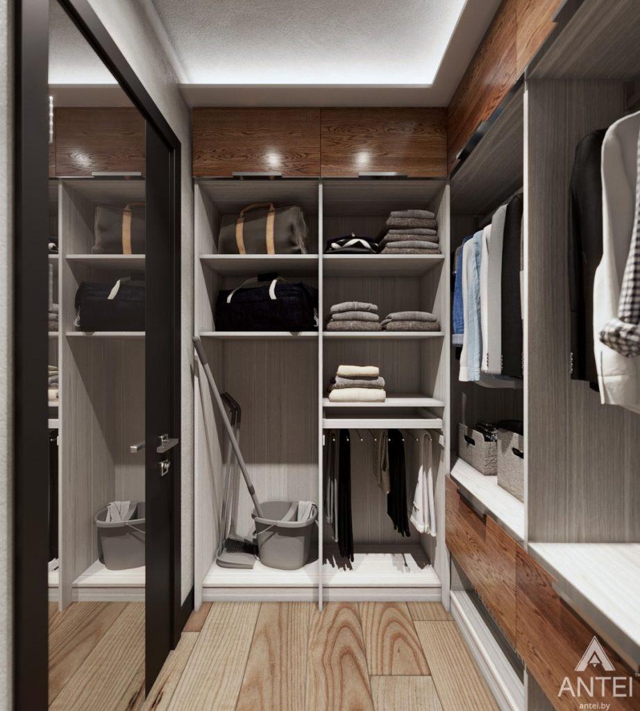 Дизайн интерьера трехкомнатная квартира в Жлобине - гардеробная фото №3