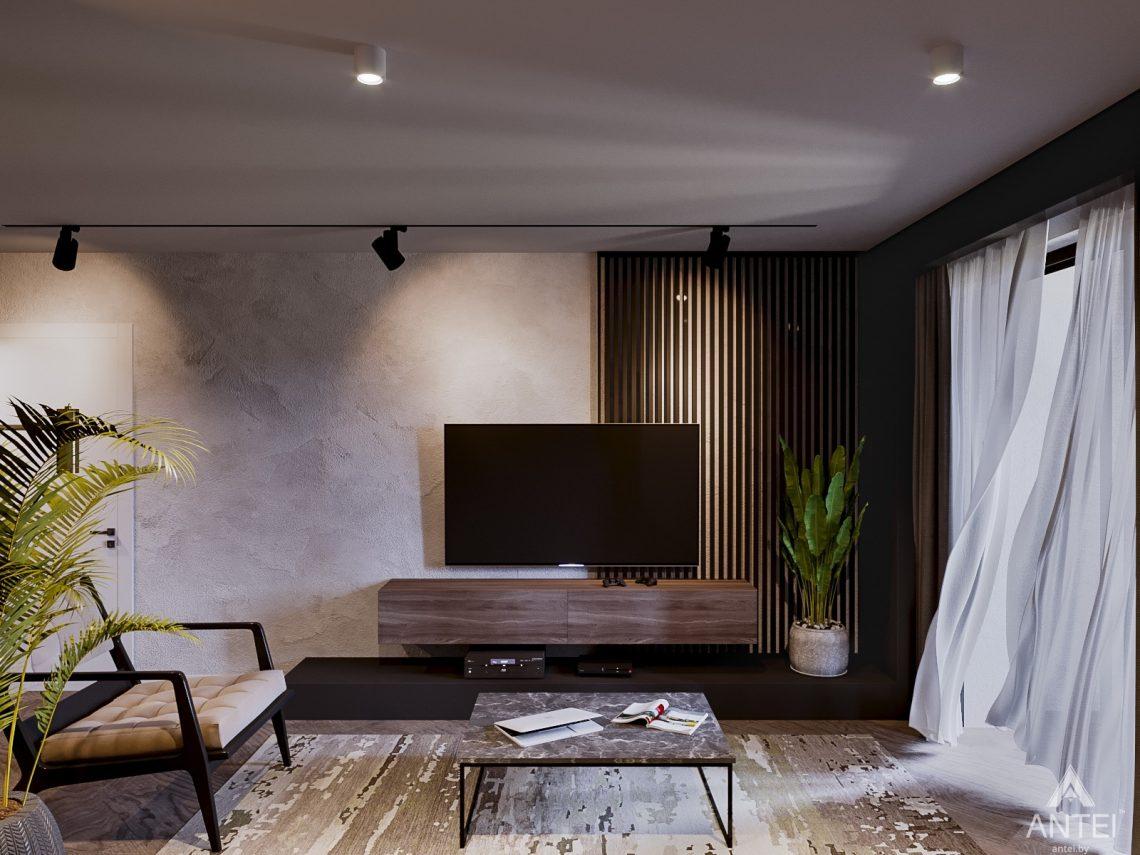 Дизайн интерьера трехкомнатная квартира в Светлогорске - гостиная фото №1
