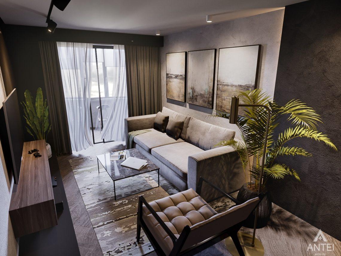 Дизайн интерьера трехкомнатная квартира в Светлогорске - гостиная фото №4