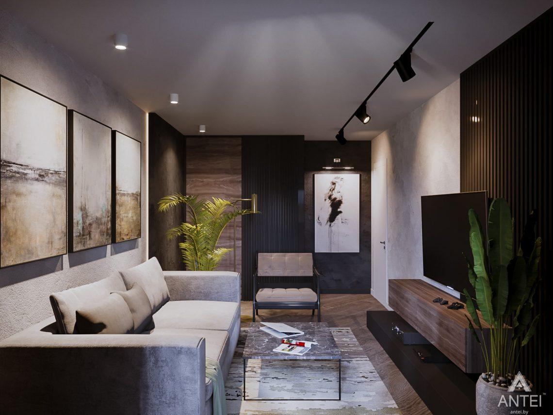 Дизайн интерьера трехкомнатная квартира в Светлогорске - гостиная фото №3