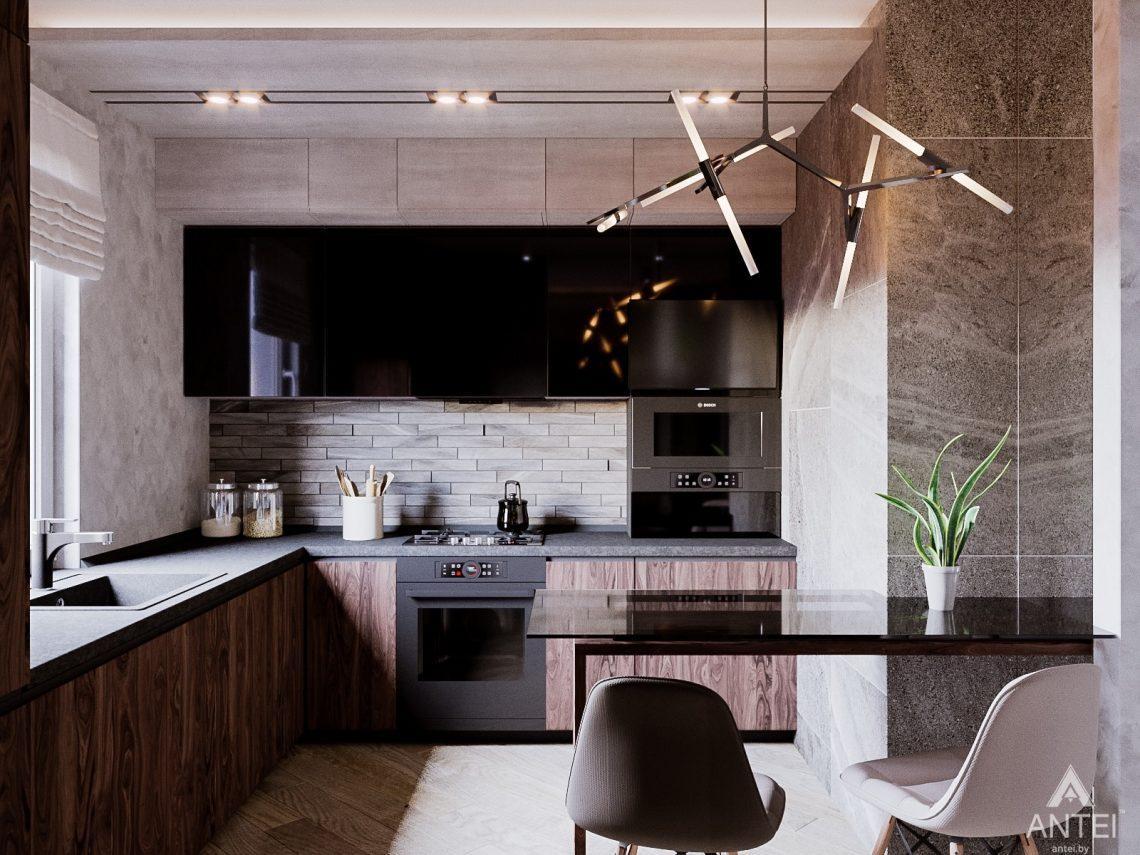 Дизайн интерьера трехкомнатная квартира в Светлогорске - кухня фото №1