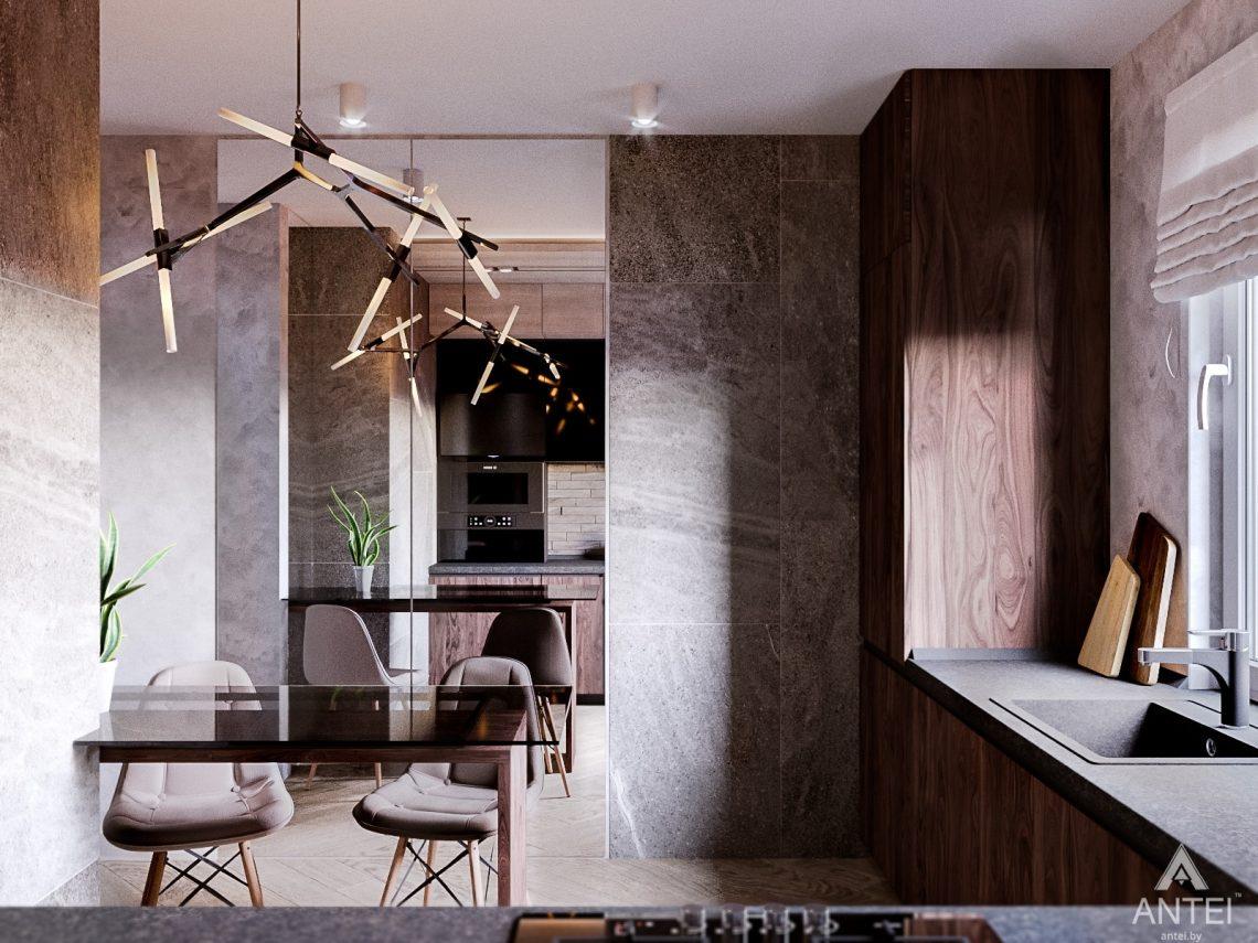 Дизайн интерьера трехкомнатная квартира в Светлогорске - кухня фото №2