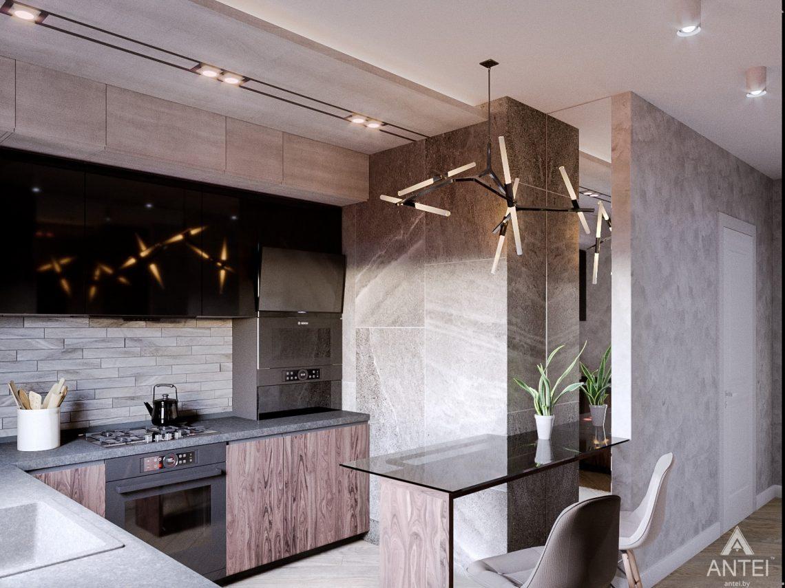 Дизайн интерьера трехкомнатная квартира в Светлогорске - кухня фото №3