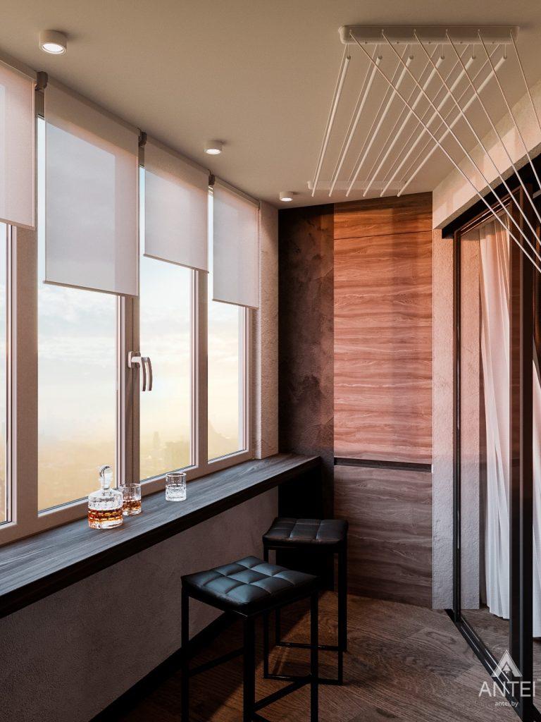 Дизайн интерьера трехкомнатная квартира в Светлогорске - лоджия фото №1