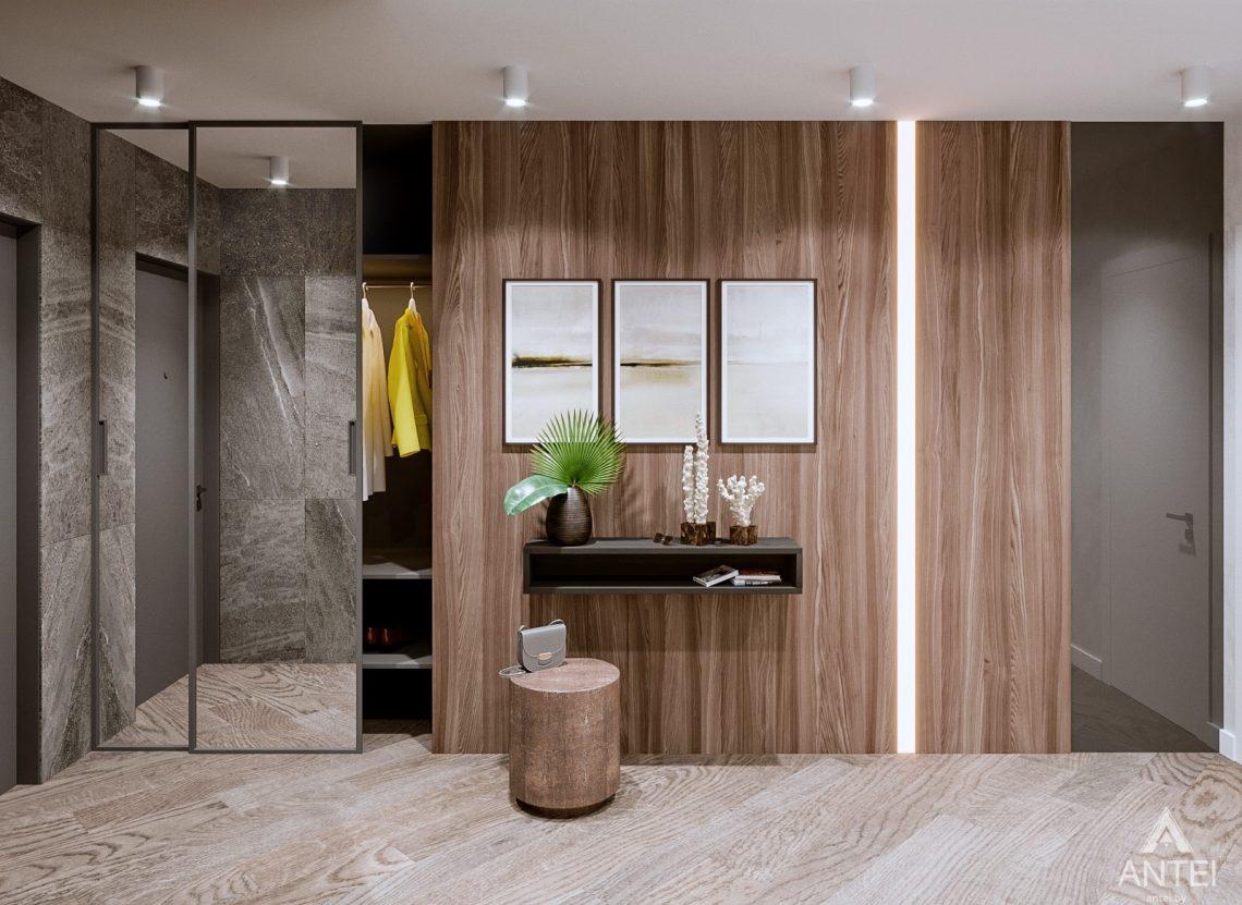 Дизайн интерьера трехкомнатная квартира в Светлогорске - прихожая фото №1