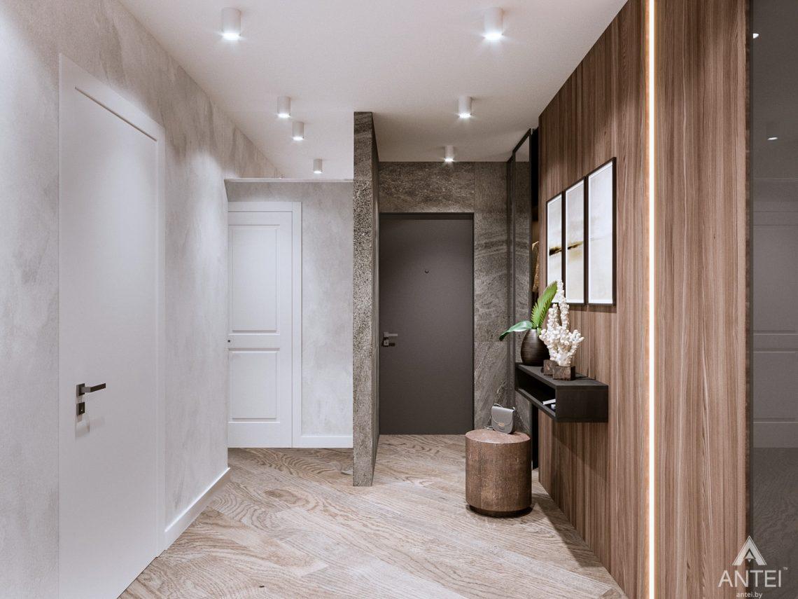 Дизайн интерьера трехкомнатная квартира в Светлогорске - прихожая фото №2