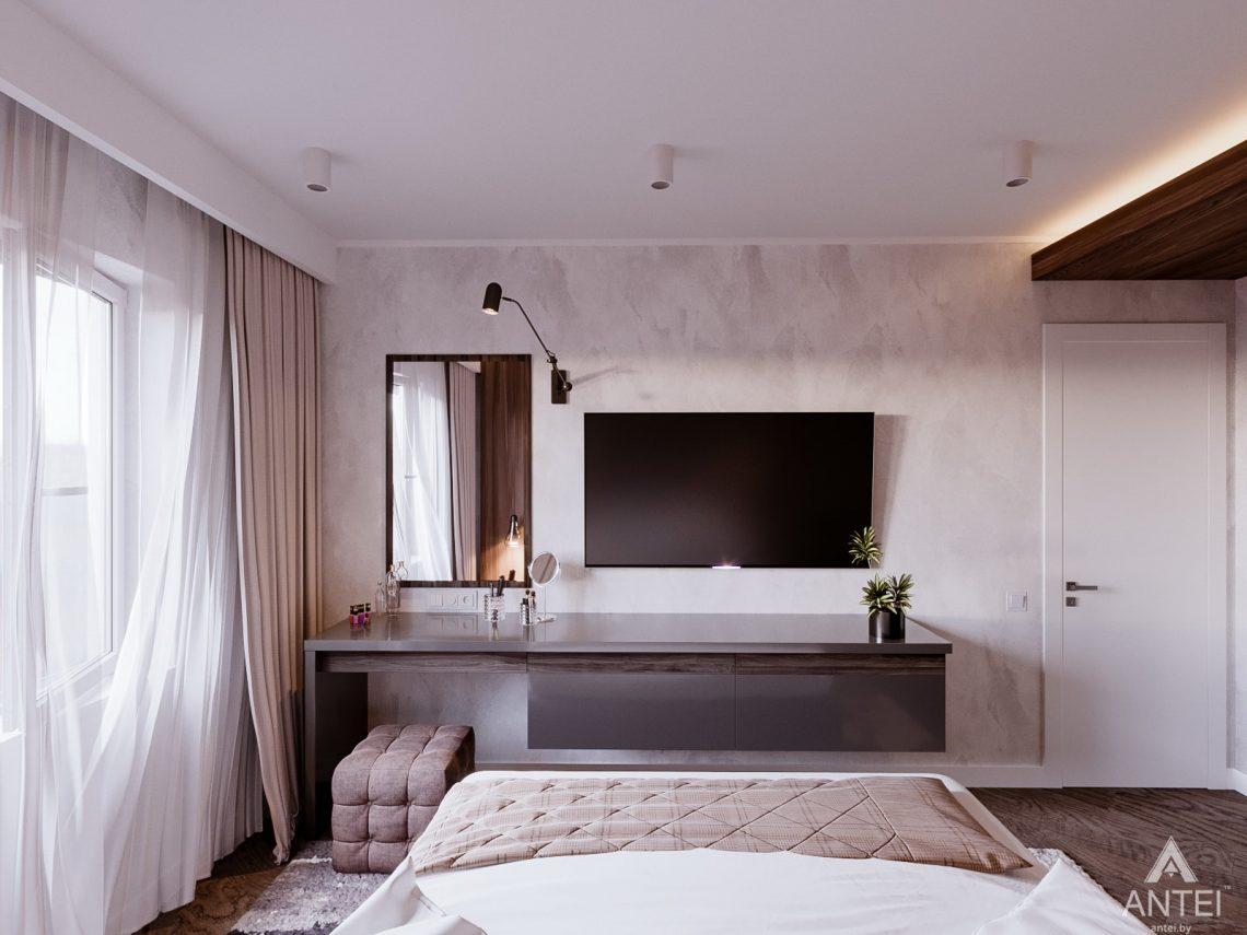 Дизайн интерьера трехкомнатная квартира в Светлогорске - спальня фото №3