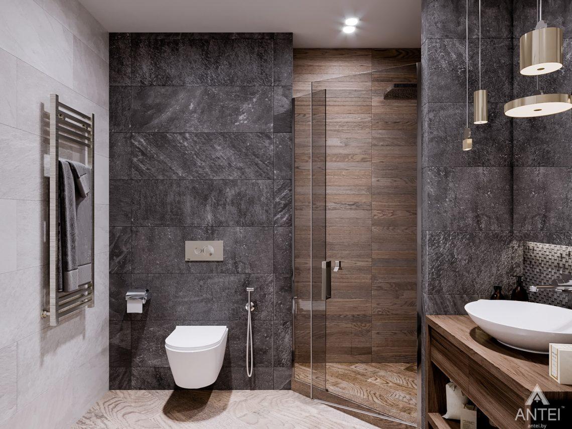 Дизайн интерьера трехкомнатная квартира в Светлогорске - санузел фото №1