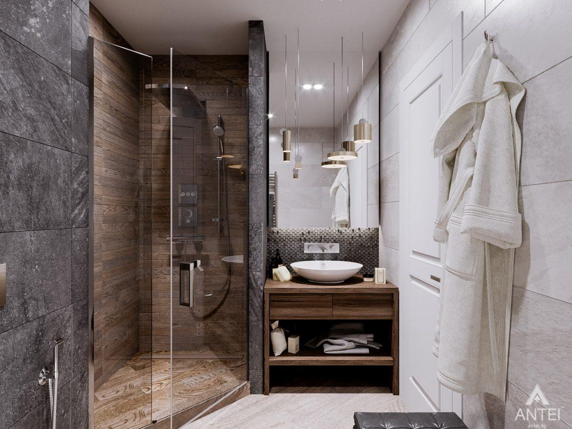 Дизайн интерьера трехкомнатная квартира в Светлогорске - санузел фото №2